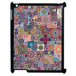 Ornamental Mosaic Background Apple iPad 2 Case (Black) Front
