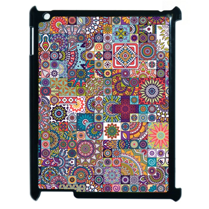 Ornamental Mosaic Background Apple iPad 2 Case (Black)