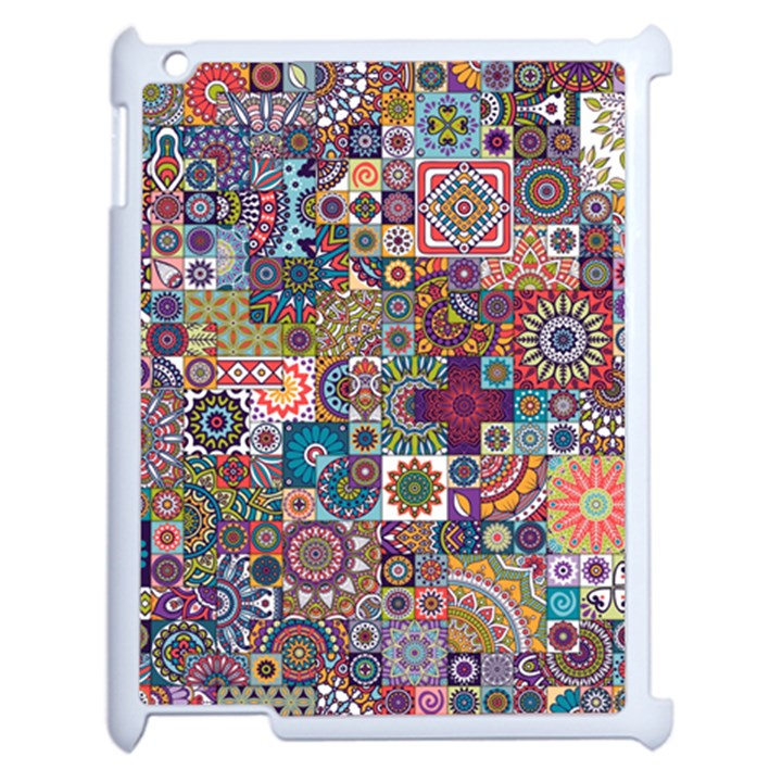 Ornamental Mosaic Background Apple iPad 2 Case (White)