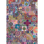 Ornamental Mosaic Background WORK HARD 3D Greeting Card (7x5) Inside