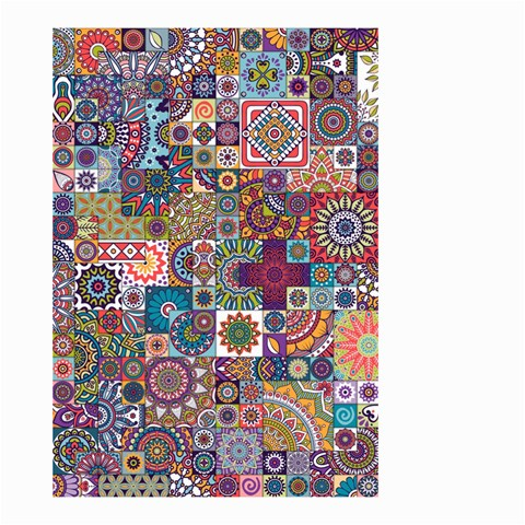 Ornamental Mosaic Background Small Garden Flag (Two Sides)