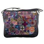 Ornamental Mosaic Background Messenger Bags Front