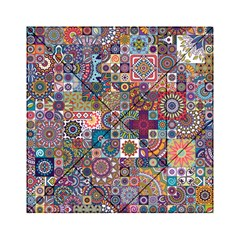Ornamental Mosaic Background Acrylic Tangram Puzzle (6  x 6 )