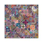Ornamental Mosaic Background Acrylic Tangram Puzzle (6  x 6 ) Front