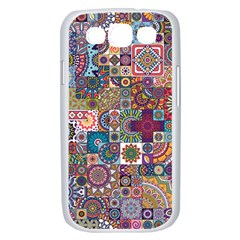 Ornamental Mosaic Background Samsung Galaxy S III Case (White)