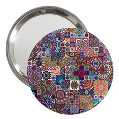Ornamental Mosaic Background 3  Handbag Mirrors