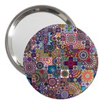 Ornamental Mosaic Background 3  Handbag Mirrors Front