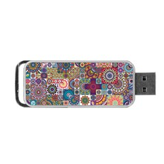 Ornamental Mosaic Background Portable USB Flash (One Side)