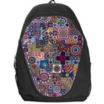 Ornamental Mosaic Background Backpack Bag Front