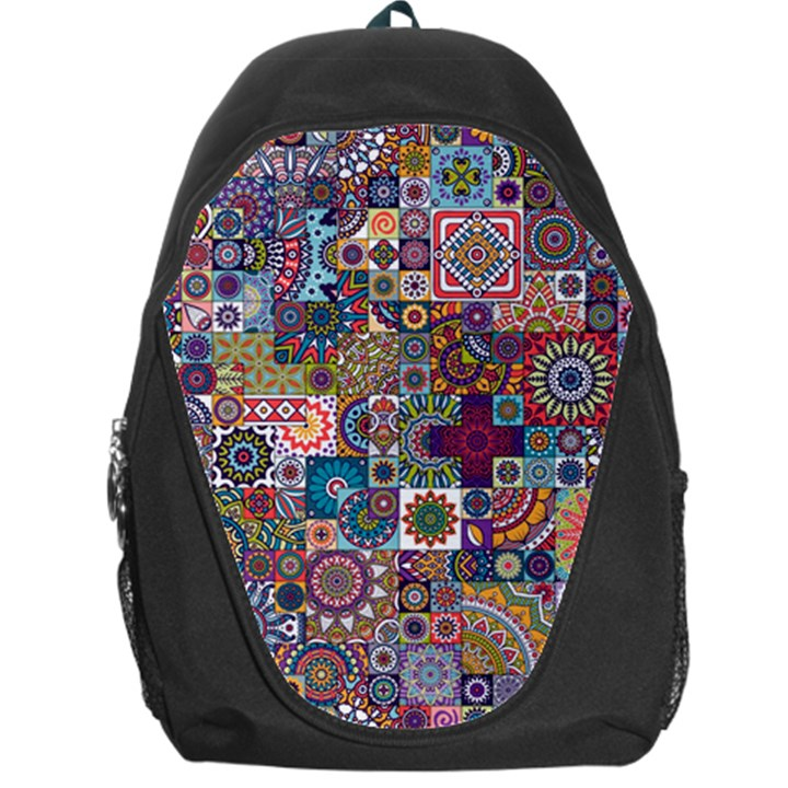 Ornamental Mosaic Background Backpack Bag