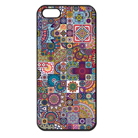 Ornamental Mosaic Background Apple iPhone 5 Seamless Case (Black)