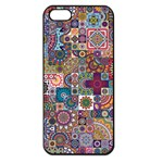 Ornamental Mosaic Background Apple iPhone 5 Seamless Case (Black) Front