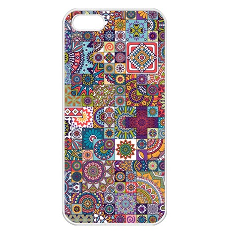 Ornamental Mosaic Background Apple iPhone 5 Seamless Case (White)