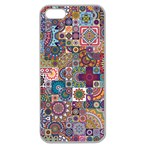 Ornamental Mosaic Background Apple Seamless iPhone 5 Case (Clear) Front