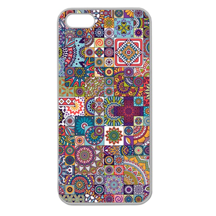 Ornamental Mosaic Background Apple Seamless iPhone 5 Case (Clear)
