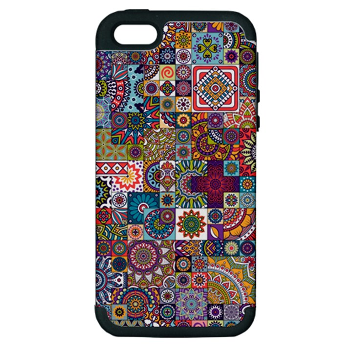 Ornamental Mosaic Background Apple iPhone 5 Hardshell Case (PC+Silicone)