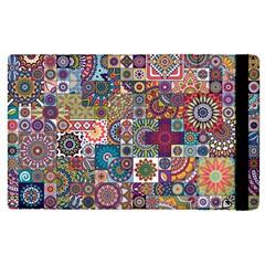 Ornamental Mosaic Background Apple iPad 2 Flip Case