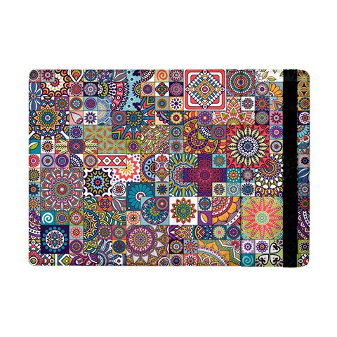 Ornamental Mosaic Background Apple iPad Mini Flip Case