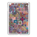 Ornamental Mosaic Background Apple iPad Mini Case (White) Front