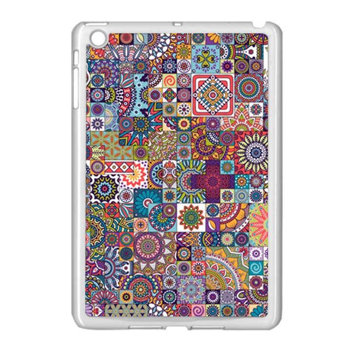 Ornamental Mosaic Background Apple iPad Mini Case (White)