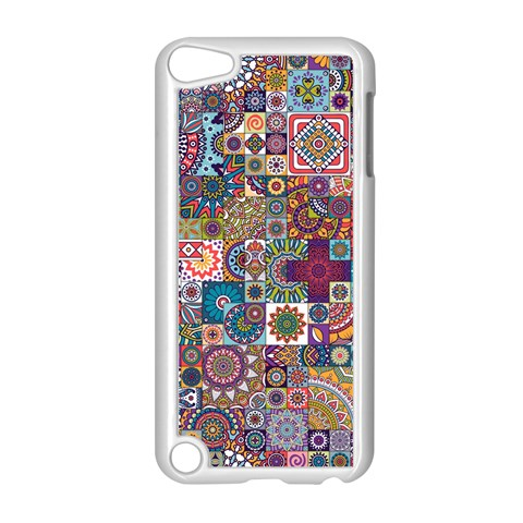 Ornamental Mosaic Background Apple iPod Touch 5 Case (White)