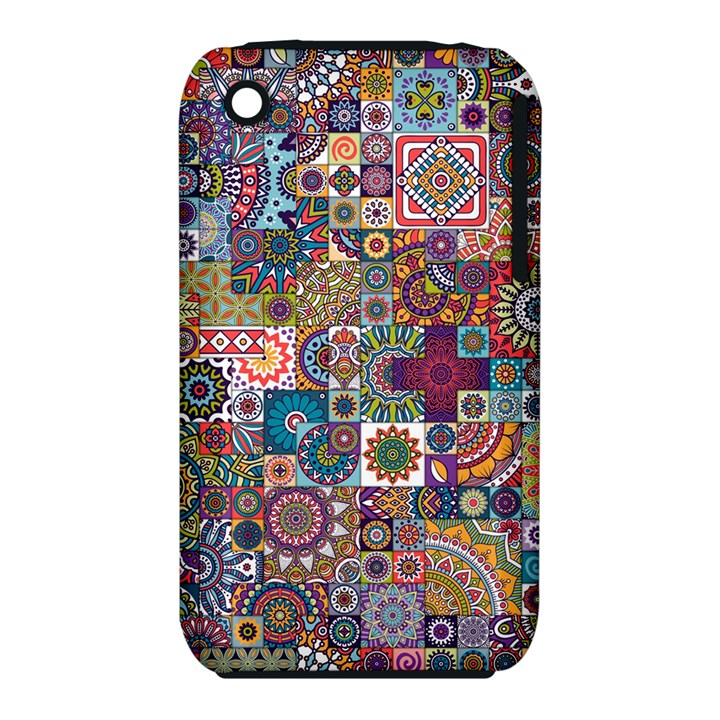 Ornamental Mosaic Background Apple iPhone 3G/3GS Hardshell Case (PC+Silicone)