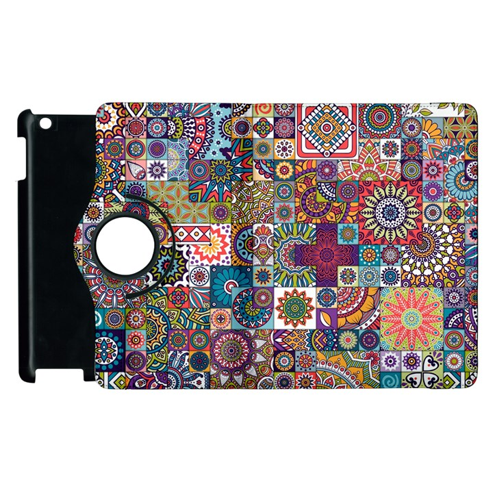 Ornamental Mosaic Background Apple iPad 2 Flip 360 Case