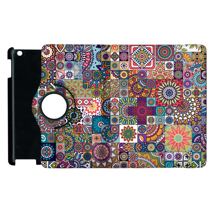 Ornamental Mosaic Background Apple iPad 3/4 Flip 360 Case