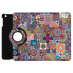 Ornamental Mosaic Background Apple Ipad Mini Flip 360 Case