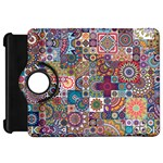 Ornamental Mosaic Background Kindle Fire HD Flip 360 Case Front