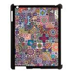 Ornamental Mosaic Background Apple iPad 3/4 Case (Black) Front