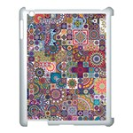 Ornamental Mosaic Background Apple iPad 3/4 Case (White) Front