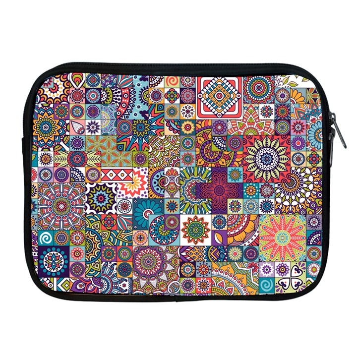 Ornamental Mosaic Background Apple iPad 2/3/4 Zipper Cases