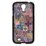 Ornamental Mosaic Background Samsung Galaxy S4 I9500/ I9505 Case (Black) Front