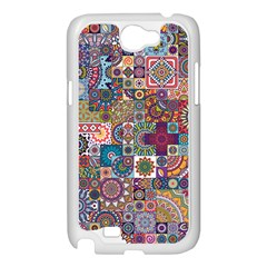 Ornamental Mosaic Background Samsung Galaxy Note 2 Case (White)