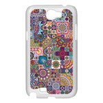 Ornamental Mosaic Background Samsung Galaxy Note 2 Case (White) Front