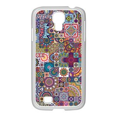 Ornamental Mosaic Background Samsung Galaxy S4 I9500/ I9505 Case (white)