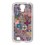 Ornamental Mosaic Background Samsung GALAXY S4 I9500/ I9505 Case (White) Front