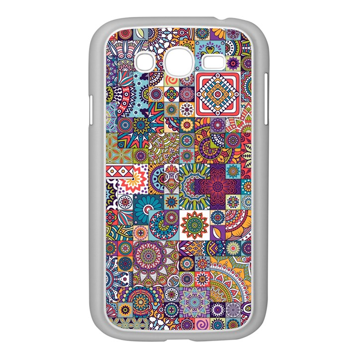 Ornamental Mosaic Background Samsung Galaxy Grand DUOS I9082 Case (White)