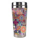 Ornamental Mosaic Background Stainless Steel Travel Tumblers Right