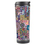 Ornamental Mosaic Background Travel Tumbler Left