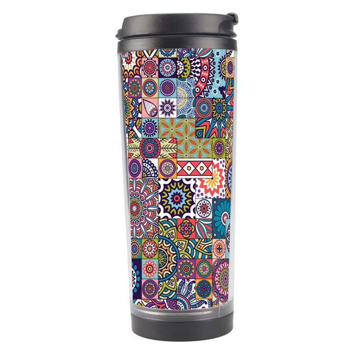 Ornamental Mosaic Background Travel Tumbler