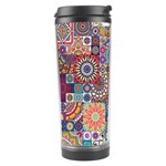 Ornamental Mosaic Background Travel Tumbler Right