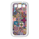 Ornamental Mosaic Background Samsung Galaxy S3 Back Case (White) Front