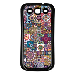 Ornamental Mosaic Background Samsung Galaxy S3 Back Case (Black)