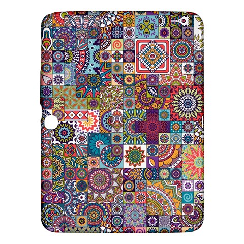 Ornamental Mosaic Background Samsung Galaxy Tab 3 (10.1 ) P5200 Hardshell Case
