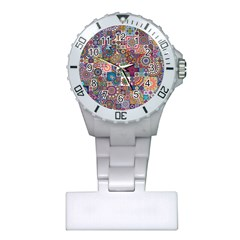 Ornamental Mosaic Background Plastic Nurses Watch