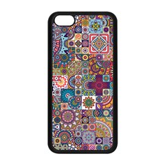 Ornamental Mosaic Background Apple iPhone 5C Seamless Case (Black)