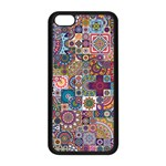 Ornamental Mosaic Background Apple iPhone 5C Seamless Case (Black) Front