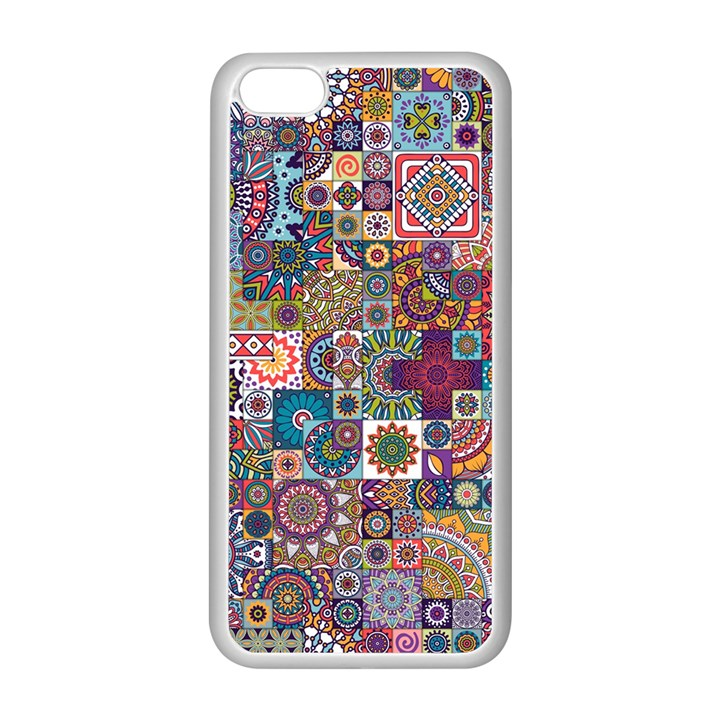 Ornamental Mosaic Background Apple iPhone 5C Seamless Case (White)